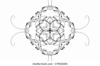 Pattern from a fractal
