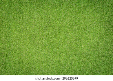 Pattern of green artificial grass for texture and background