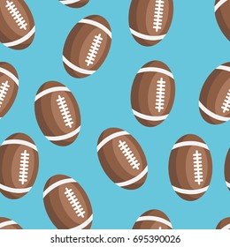 pattern of the leather balls for rugby