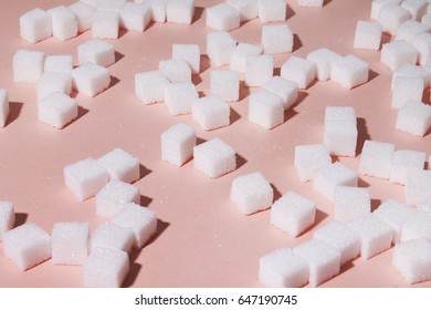 Pattern made from sugar cubes.
