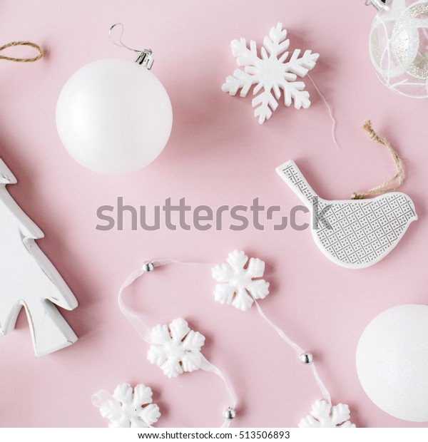 pattern made white christmas decoration 600w 513506893