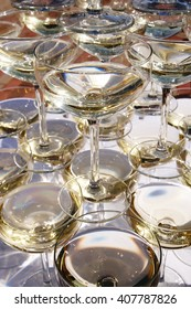 Pattern of martini glases.