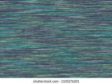 Pattern multi-colored print yarn. Seamless linen slub jersey.