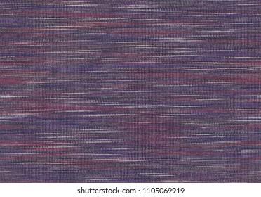 Pattern multi-colored shaded print yarn. Seamless linen slub jersey