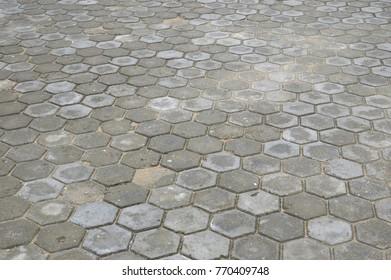 pattern octagonal on the paving block