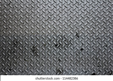 a pattern on a floor which made of metal