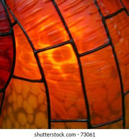 Pattern on glass lamp shape