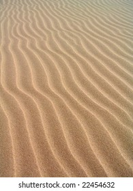 Pattern on the sand formed by wind. Slowinski National Park in Poland.