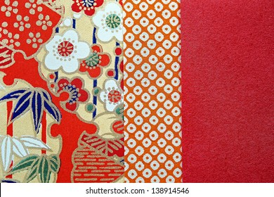 Pattern on the wrapper of the Japanese