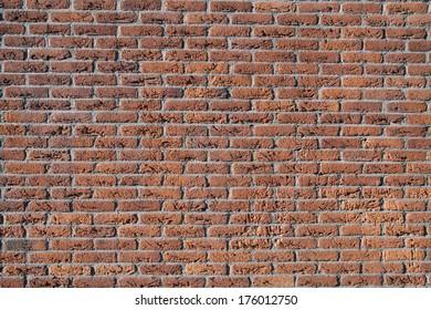Pattern orange brick wall - Background image.