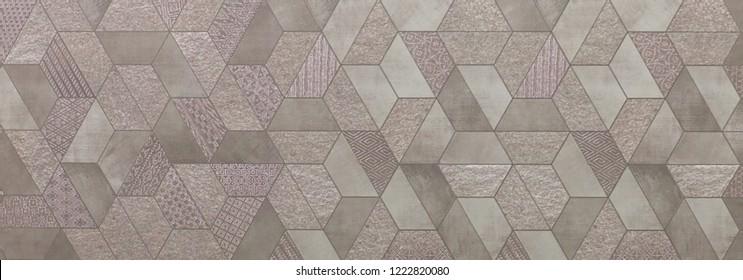 pattern with ornamental mosaic, decorative ceramic tile