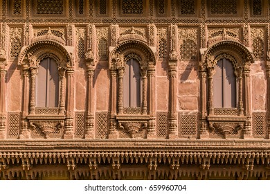 Pattern of the Patwon ki Haveli in Jaisalmer, Rajasthan state in India