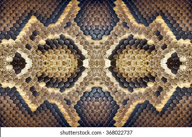 Pattern of python skin.