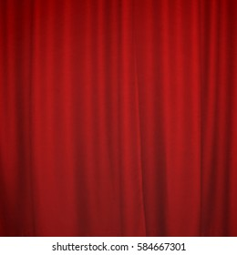 Pattern of the red curtain