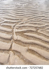Pattern of sand on the beach