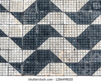 pattern sidewalk with drawing of sao paulo state map