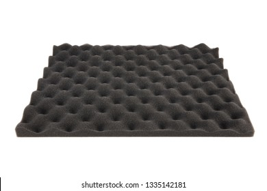 The pattern of the soundproof panel of polyurethane foam.  Sound Insulation Material.