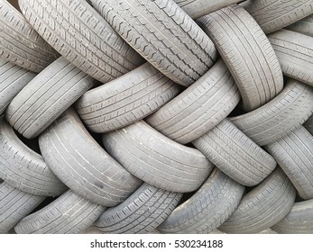 pattern of stacked aged tire
