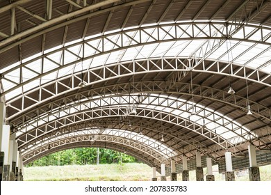 Pattern of steel roof framework, Thailand