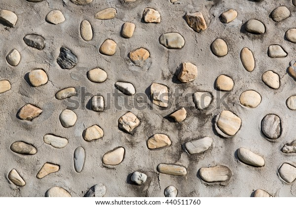pattern of stone in cement wall background