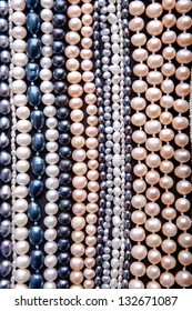 Pattern of strands of pearls