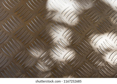 Pattern or Texture of Non slip steel grating of steel step.