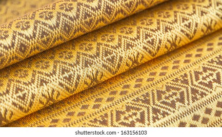 Pattern of Thai golden silk