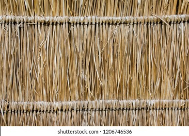 a pattern of the thatch roof