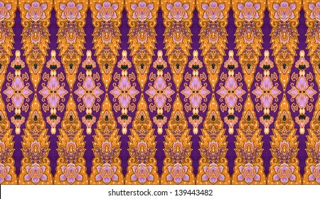 Pattern for traditional clothes malaysia with batik texture