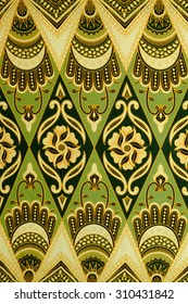 Pattern for traditional clothes malaysia with batik texture.
