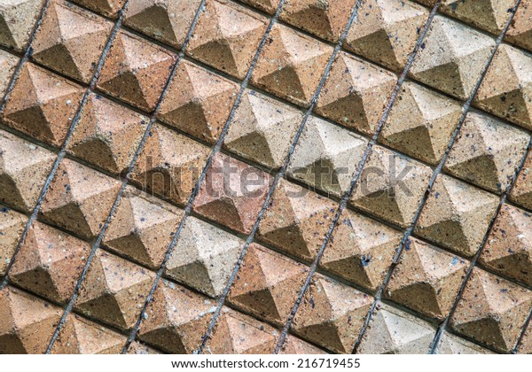 Pattern Triangular Clay Tiles Honeycomb Tile Stock Photo (Edit Now