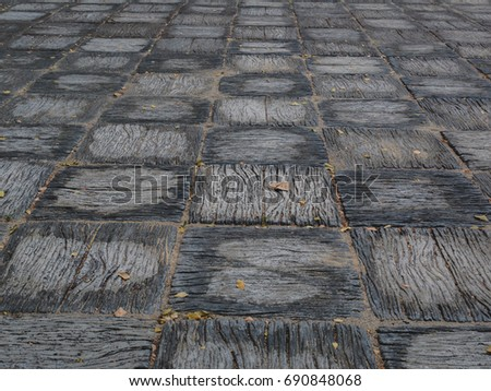 Pattern Walkway Concrete Block Paving Abstract Stock Photo (Edit Now