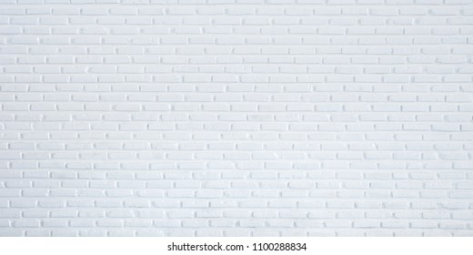 Pattern of white brick wall for background and textured, White wall background