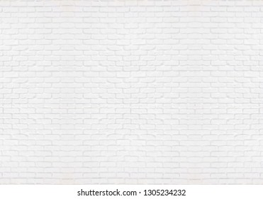pattern of white modern brick wall orderly background