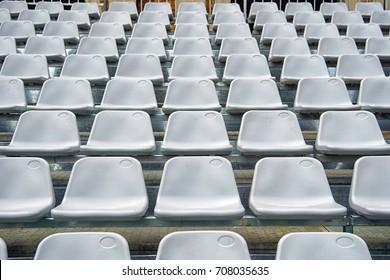 Pattern of white stadium seats