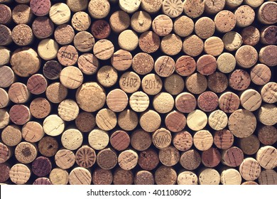 A pattern of wine corks