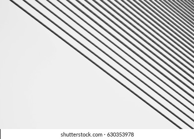 pattern of wire rope at Suspension bridge - abstract background - monochrome