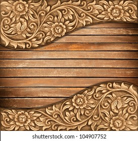 Woodcarving high relief carving garden theme long version
