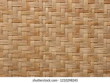 pattern of woven bamboo texture for background
