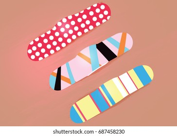 Patterned Band aids