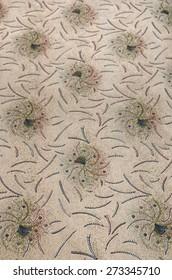 Patterned bedspread