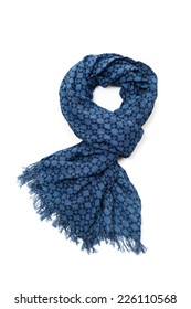 Patterned blue scarf