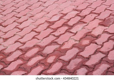 patterned paving tiles or cement brick floor background