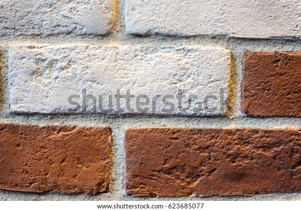 Patterns of brick and board, brickwork near
