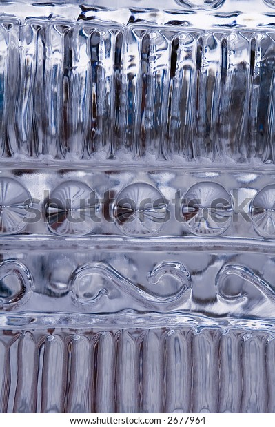 Patterns in carved ice