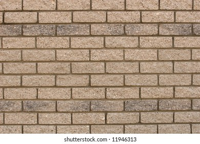 The patterns created by the bricks in a facebrick wall