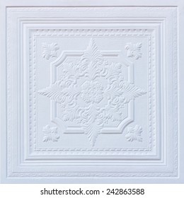 Patterns on the ceiling gypsum sheets