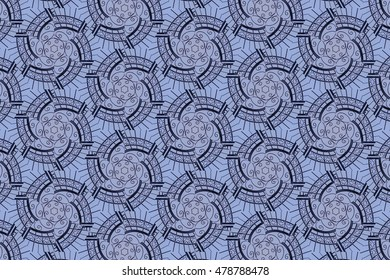 The patterns on the gray-blue background. T