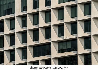 patterns on a modern facade