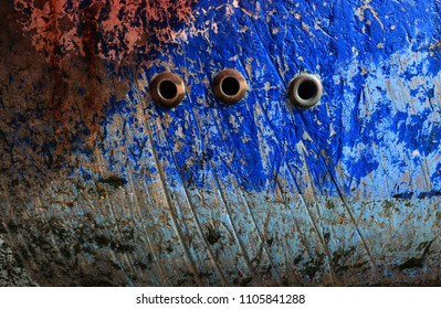 Patterns on the Side of a Fishing Boat